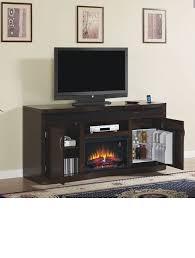 fireplace and mini fridge