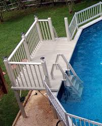 Swimming Pool Swimming Pool Ladders Stairs Replacement Steps For Swimming Pool Ladder P Backyard Pool Backyard Pool Landscaping Above Ground Pool Landscaping