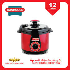 Nồi hầm áp suất điện 5 lít Sunhouse SHD1552