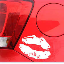 Red Lips Kiss Decal Auto Sticker Car Truck Lips Pattern Funny Car Decoration Pvc Glue Mirror Stickers Car Stickers Aliexpress