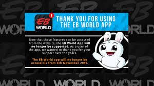 eb games kills off its eb world app on