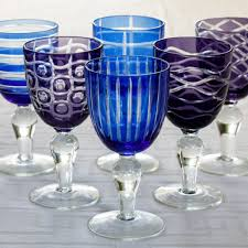 cobalt mix wine glasses set of 6
