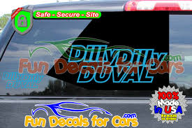 Dilly Dilly Duval Vinyl Decal Jacksonville Fl Local Pride Style A