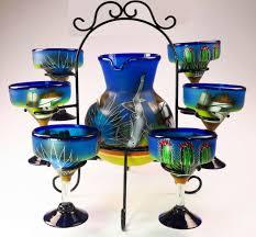 mexican glass margarita set pitcher