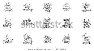 positive quotes make today beautiful keep stock vector royalty