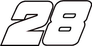 28 Race Number Decal Sticker Outline28 Race Number Decal Sticker Outline28 Race Number Decal St Custom Truck Decals Custom Car Stickers Custom Car Decals