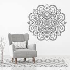 Mandala Wall Sticker Sacred Geometry Wall Art Mandala Wall Etsy In 2020 Wall Stickers Mandala Simple Wall Art Mandala Wall Art