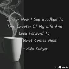 so far now i say goodbye quotes writings by nisha kashyap