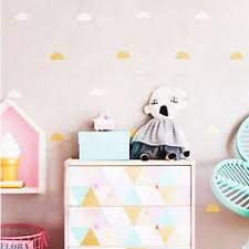 Cute Cloud Wall Stickers 35 Pcs Set Clouds Wall Decals For Kids Room Decor Ebay