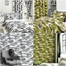 army camouflage green grey duvet cover
