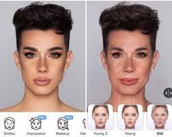 man look older with makeup