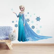 Disney Frozen Elsa Giant Wall Decals With Glitter Us Wall Decor