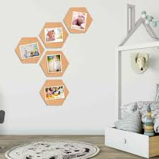 5 Pcs Beautifully Designed Hexagonal Cork Boards Hexagon Cork Board Tiles Tiles Self Adhesive Mini Wall Bulletin Boards For Home Plaques Signs Aliexpress