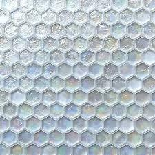 iridescent hexagon glass mosaic tile