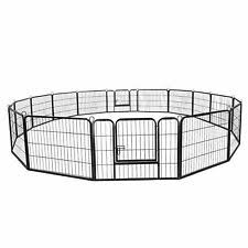 24 Tall Foldable Dog Playpen Crate Yard Fence Small Animals Play Pen Exercise For Sale Online