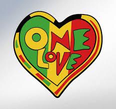 One Love Rasta Wall Sticker Tenstickers
