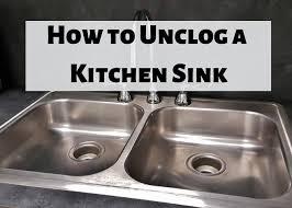 clear a clogged kitchen sink drain