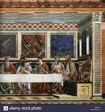 English: Last Supper (detail) . 1447. Andrea del castagno, sant ...