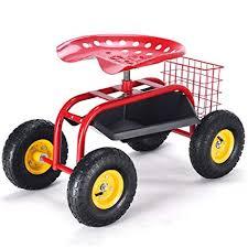 com giantex garden cart rolling
