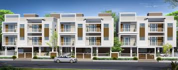 Row housing ELEVATION design - GharExpert