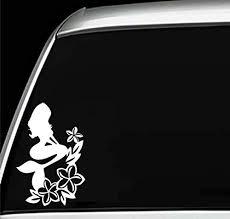 Amazon Com Mermaid Princess Hawaiian Hibiscus Plumeria Flowers Laptop Wall Home Decor Window Car Bumper Vinyl Sticker Decal 6 Inches Handmade