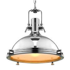industrial pendant lamp polished chrome