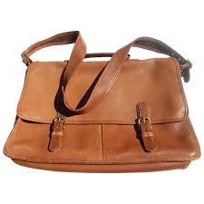 coach leather briefcase laptop shoulder