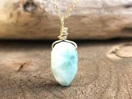 larimar stone necklace toqueglamour