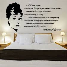 happy larry audrey hepburn quote design wall sticker reviews