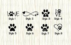 Love Paw Animal Car Decal Dog Love Paw Word Decal Paw Etsy Animal Lover Tattoo Tattoos For Lovers Dog Tattoos