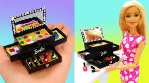 diy miniature barbie makeup kit box
