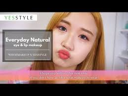 natural eye lip makeup up tutorial