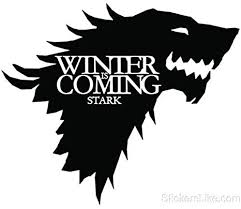 Amazon Com Game Of Thrones House Stark Wolf Vinyl Sticker Decal Hbo Winter Is Coming 5 5 Inches Black Arts Crafts Sewing