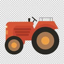 Tractor Farm Agriculture Red Tractor Orange Sticker Cartoon Png Klipartz