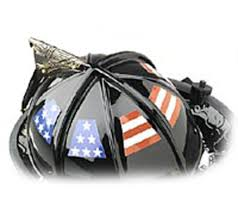Usa Flag Helmet Tetrahedrons Decal