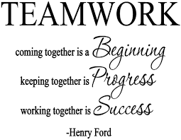 Amazon Com Vwaq Teamwork Coming Together Is A Beginning Henry Ford Quote Vinyl Decal Home And Office Wall Decor 18097 Home Kitchen