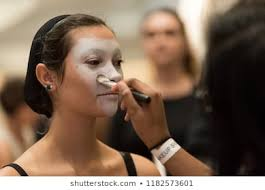 airbrushing makeup images stock photos