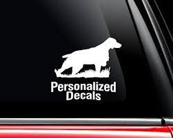 Brittany Vinyl Window Decals Make A Decal Online W Decal Designer Custom Car Window Dog Decals Personalized Vinyl Car Decal Dog Decals Vinyl Window Decals Dog Breed Decal