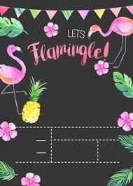 Pin De Yoryi En Flamingos Con Imagenes Invitaciones Hawaianas