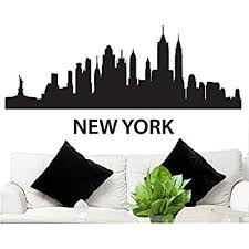 Amazon Com Wall Decal Sticker New York Skyline 22 5 Tall 48 Wide In Black Fgd Brand Everything Else