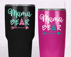 Amazon Com Mama Bear Decal Yeti Tumbler Sticker Mom Sticker With Teepee Arrow Your Choice Of Size And Colors Handmade