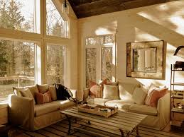 cottage cabin rustic family room