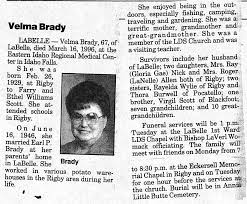 Velma Scott Brady (1929-1996) - Find A Grave Memorial