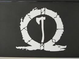God Of War Inspired Vinyl Decal Kratos Axe Etsy
