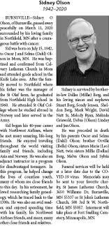 Obituary for Sidney Olson