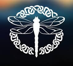 Celtic Dragonfly Decal Vinyl Decal Car Decal Car Sticker Etsy