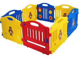 Amazon Com Baby Playpen For Babies Baby Playard Infants Toddler 8 Panels Safety Kids Play Pens Indoor Baby Fence With Activity Board Baby