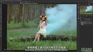 photoshop合成少女仙子意境写真照,梦幻仙境场景的精灵少女_PS爱好者教程网