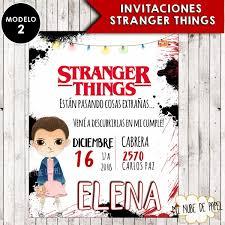 Invitaciones Impresas Stranger Things Cumpleanos Y Mas 15 00