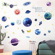 Super Promo 79db 3d Three Dimensional Wall Sticker Kids Room Decoration Bedroom Bedside Decorative Stickers Blue Planet Self Adhesive Home Decor Cicig Co